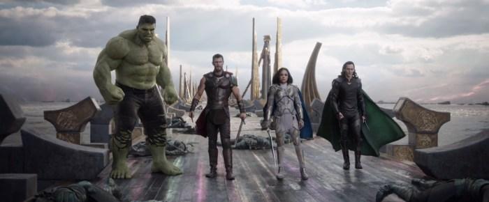Thor Ragnarok - Hulk, Thor, Valkyrie and Loki
