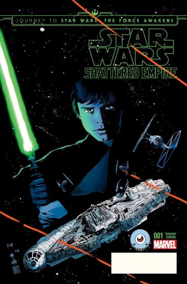 Journey To Star Wars: The Force Awakens: Shattered Empire variant cover by Francesco Francavilla, for Third Eye Comics.