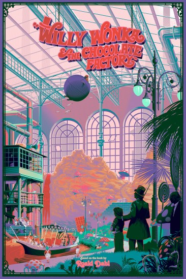 Laurent Durieux Willy Wonka and the Chocolate Factory Print