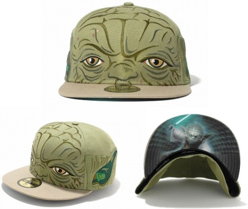 New Era Japan's 59Fifty fitted Star Wars Caps - Yoda