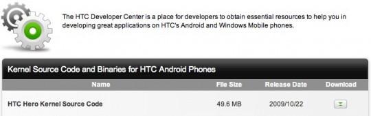 htc hero kernel source code 540x170
