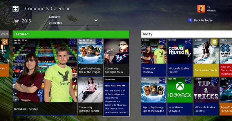 Microsoft launches Xbox Live Community Calendar app