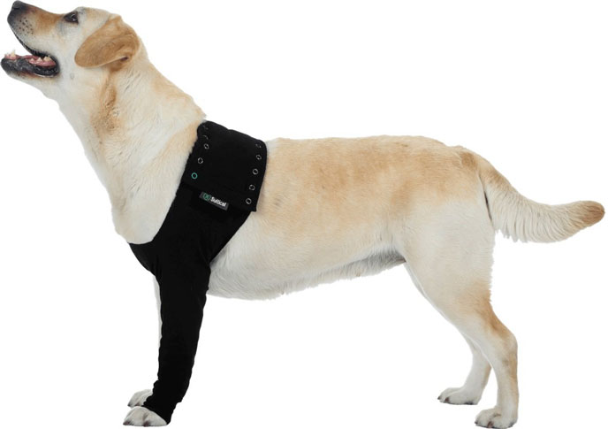 Suitical Dog Recovery Sleeve   Slash Pets With the Suitical Dog Recovery Sleeve  you will be able to offer your pet  proper leg protection and comfort  It can be used on right left front leg