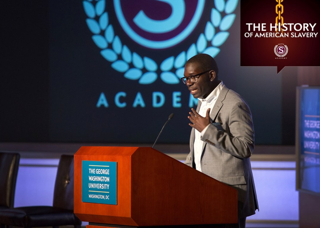 Jamelle Bouie speaking during Slate Academy: An honest talk abou
