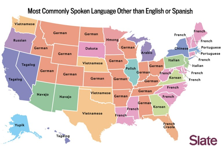 Image result for second most spoken language by state
