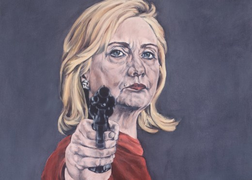 Image result for hillary clinton with a gun