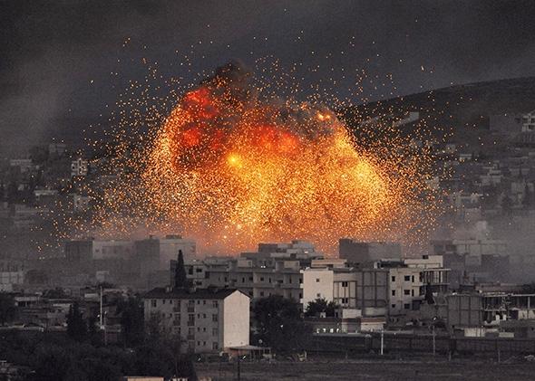 ISIS car bombing, Kobani.