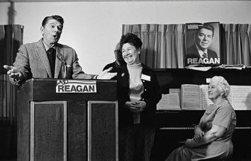 Ronald Reagan addressing a senior citizens group, New Hampshire, 1976.