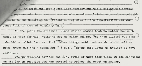 EXCERPT FROM SHERWIN POLICE REPORT (THE TEXT OF SHERWIN'S REPORT IS EXCERPTED IN THE GRAF BELOW)