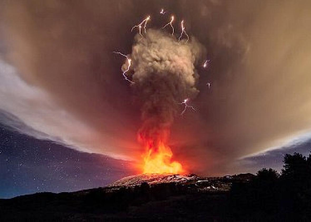 Mount Etna eruption Dec. 3 2015