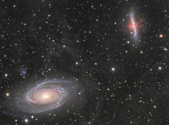 Astrophoto: M81 and M82 by Andre van der Hoeven.