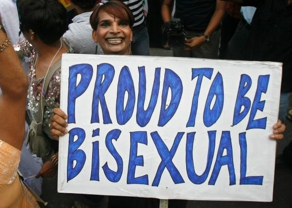 A sign at New Delhi's Queer Pride March in June 2008.