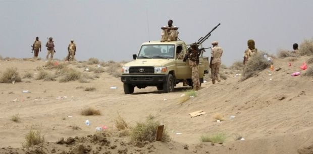 Des soldats soudanais au Yémen, le 7 juin 2018. NABIL HASSAN / AFP
