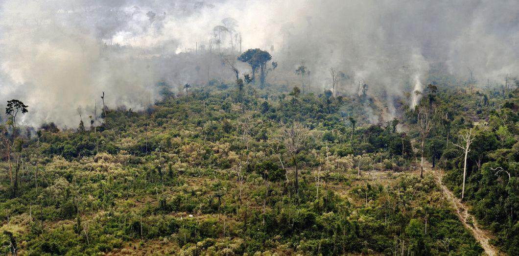 Plus de 90.000 incendies ont été recensés en Amazonie depuis janvier 2019.|Carl de Souza / AFP