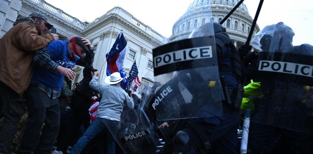 L'assaut sur le Capitole des partisans de Donald Trump, le 7 janvier 2021.| Brendan Smialowski/ AFP