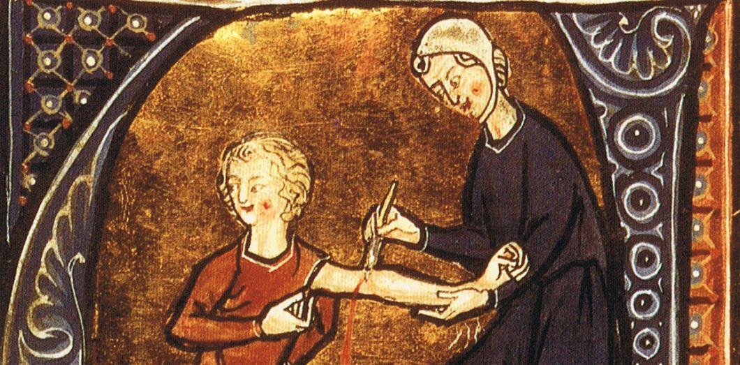 Médecin laissant couler le sang d'un patient. | Peter Isotalo via Wikimedia Commons