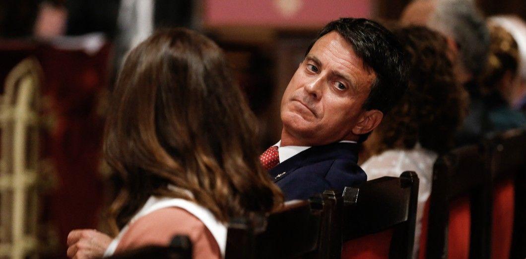 Manuel Valls, le 15 juin 2019, à Barcelone.   Pau Barrena/ AFP