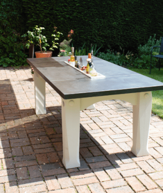 outdoor slate tables hand built by