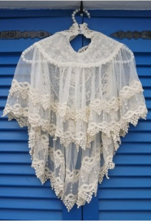 Retro Crochet Lace Cape