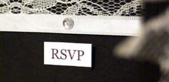 Ebony & Ivory RSVP card