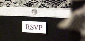 Ebony & Ivory RSVP card