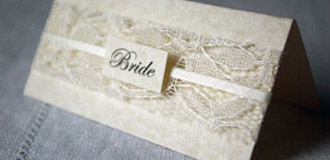 'Elegance' place name card