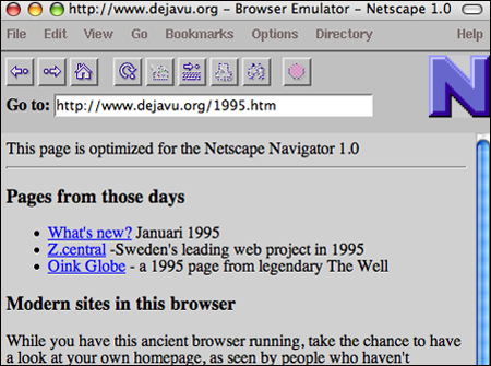 Old browser