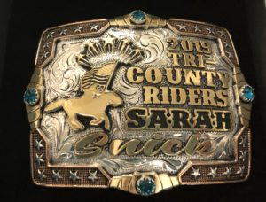 The buckle I earned on Snick at TCR.