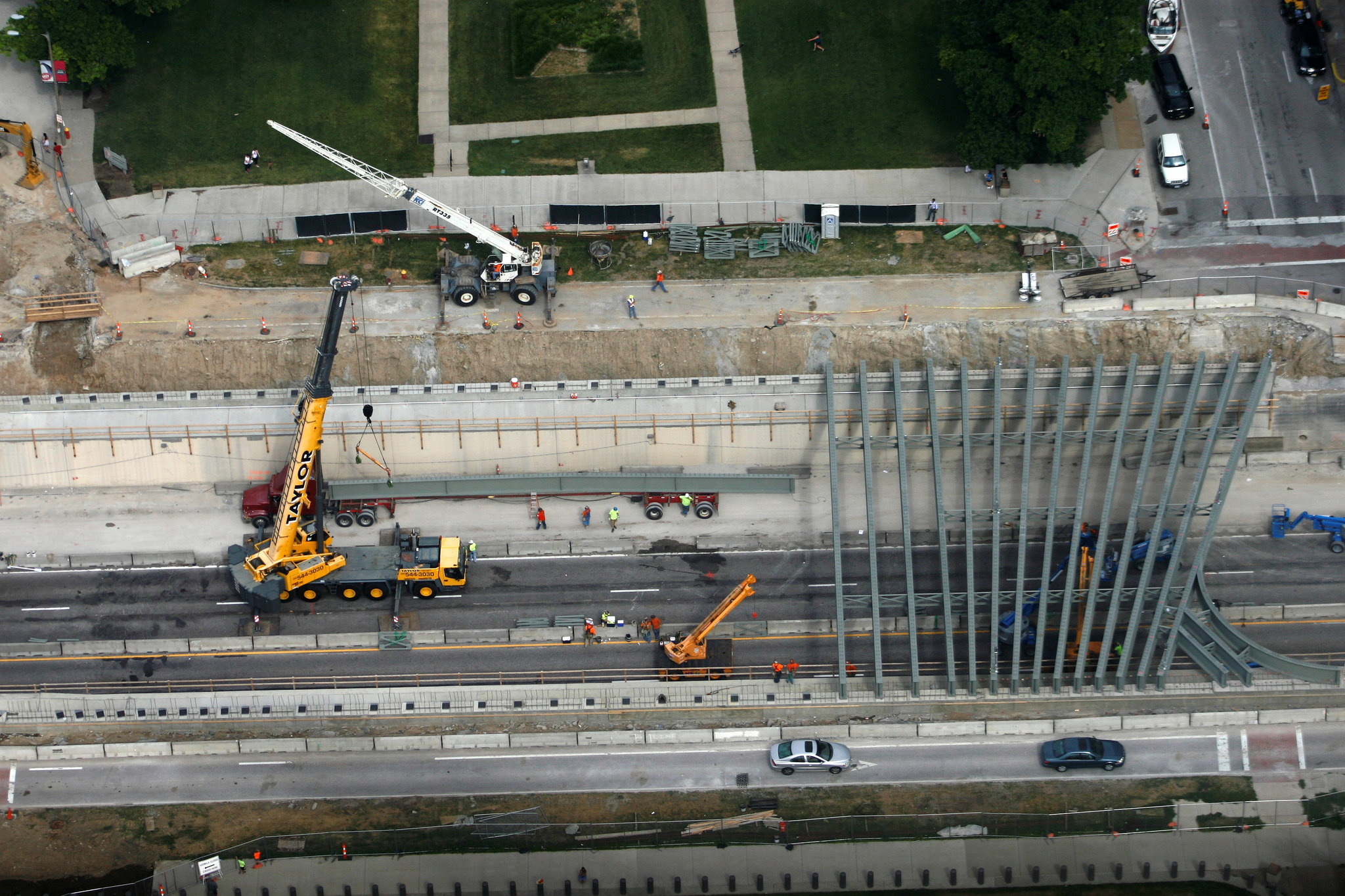 Gateway Arch Park Construction
