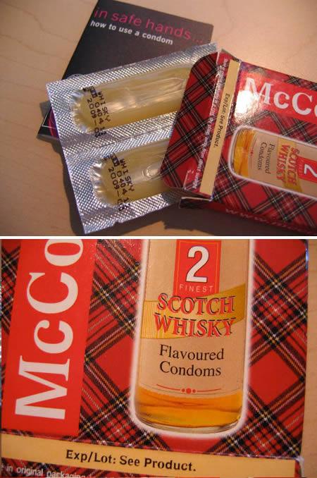 whisky condoms Kondom mit Geschmack Kondom mit Alkoholgeschmack Alkohol Kondome bizarre Kondome