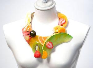 Fake Food Accessoires Hatanaka Geschenkidee für Essensliebhaber Obst Schmuck Kette