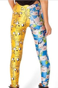 finn and jake print-leggings