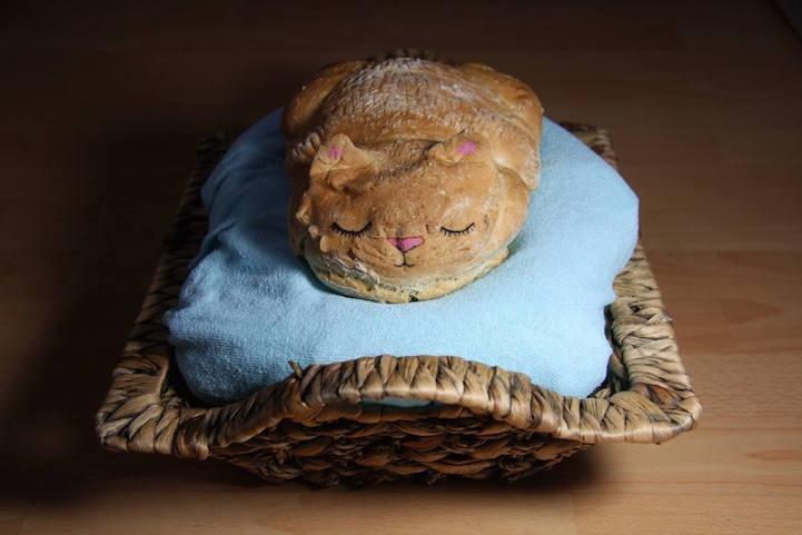 Katzenbrot Brotform Backen mit Katzen
