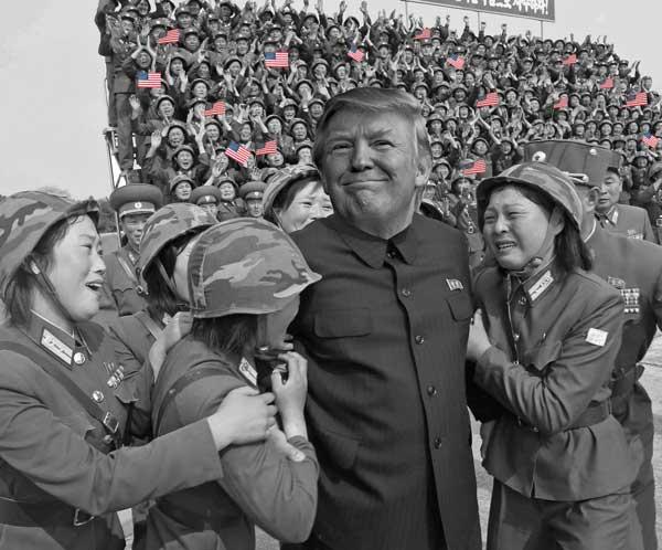 kim-jong-un-donald-trump photoshop-battle