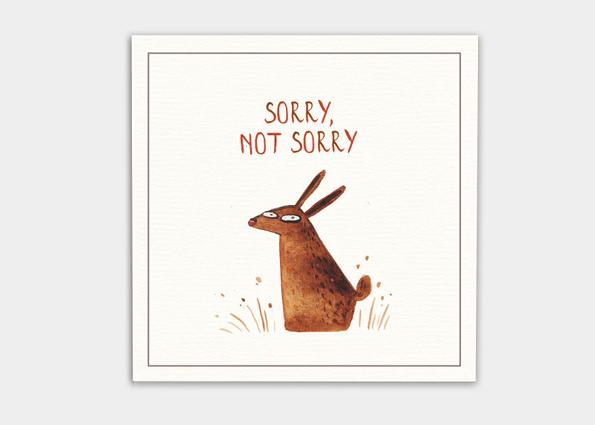 kaa illustrations böse postkarten sorry not sorry
