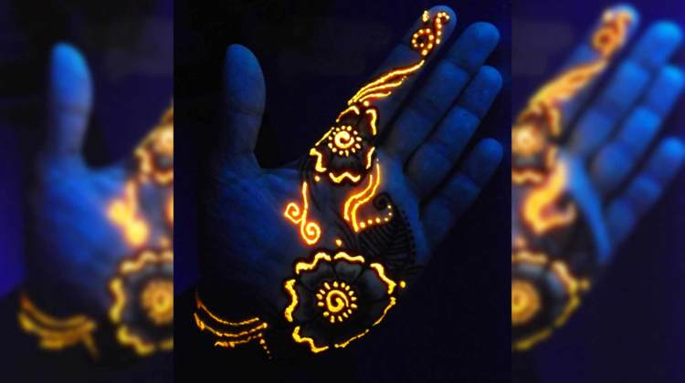 glow in the dark henna beitragsbild