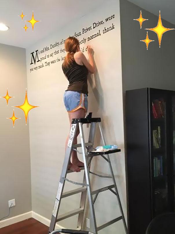 Meredith McCardle Wanddeko Harry Potter an der Wand