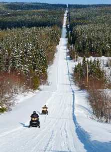 Cap-Chat and Chic-Choc Mountains, Snowmobile Trans-Quebec Route 5