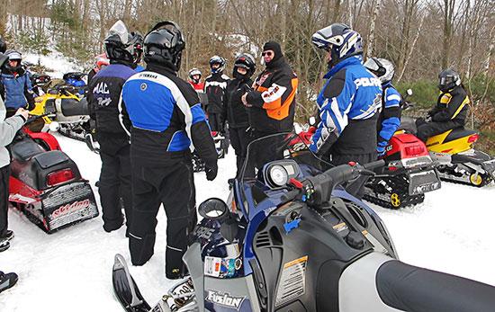 Snowmobile Association of Massachusetts family ride