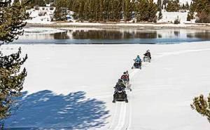 Snowmobilers on public lands