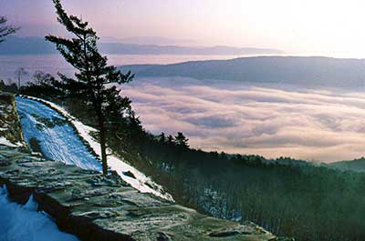 The Summit of Greylock Mountain in the winter