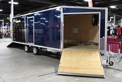 Blizzard snowmobile trailer Raffle
