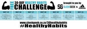 Sleekgeek 30-Day Healthy Habit Challenge Week 3 powered by adidas
