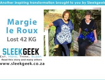 Margie le Roux, aged 67 loses 42kgs!