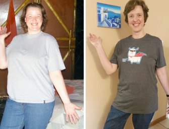 Debbie Louw loses 17kgs and keeps focussed on her goal.