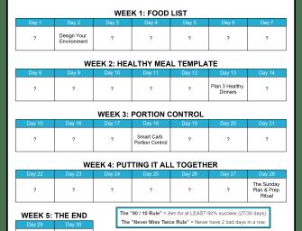 Sleekgeek 30-Day Nutrition Challenge