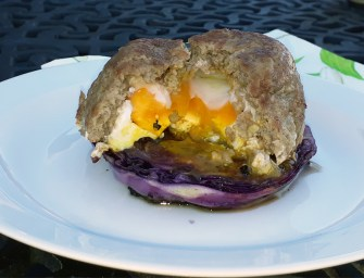 [Recipe] Mince and Egg Mound Served on a Baked Cabbage Slice
