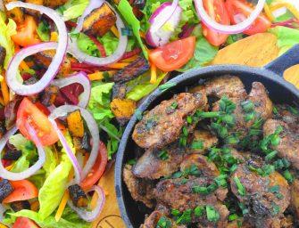 [Recipe] Chilli chicken liver salad