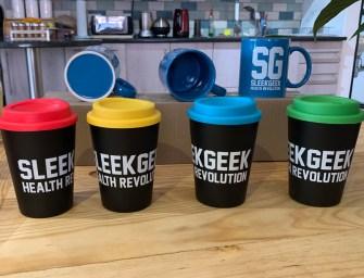 Stay warm with a Sleekgeek Re-Usable Travel Cup or Mug