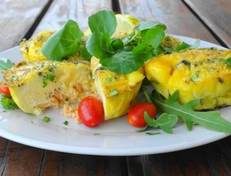 [Recipe] Salmon and egg muffins